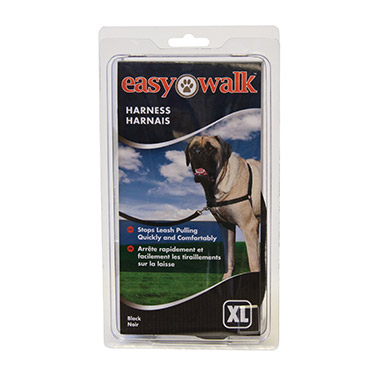 Easy Walk Nylon Adjustable Dog Harness - Black thumbnail4