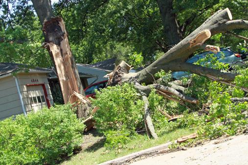 August 2011 storm damage in Prairie Village, KS