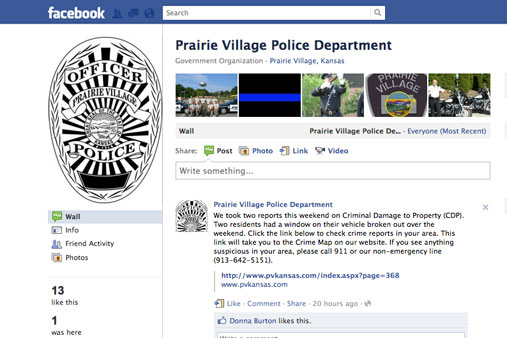 Prairie Village police launch Facebook page to give updates