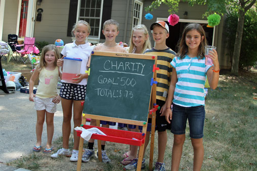Oxford Road Kids Donate Own Toys Put On Garage Sale For A