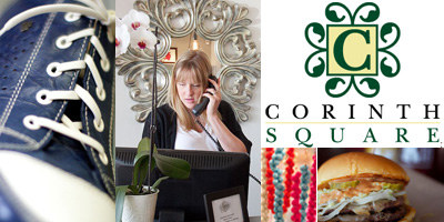 Corinth square shopping and dining destinations for Jewelry arts prairie village