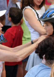 Headstrong for Jake will be on hand at VillageFest, distributing free bike helmets to the first 350 kids who show up.