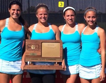 SM East's girls tennis team won the state-champion in 2013, and is rewarded this week this a number one ranking in the 2014 pre-season poll.