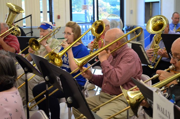 The New Horizons Band meets every Tuesday in Roeland Park.