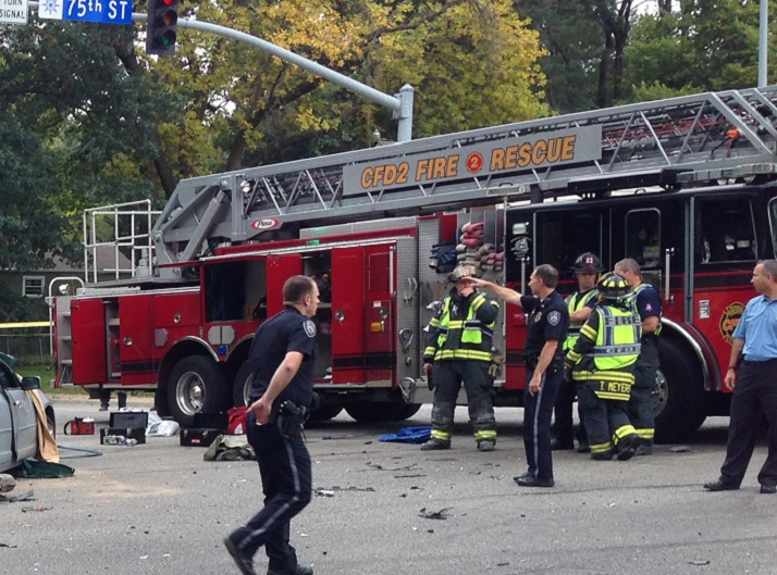 Police and fire crews were on the scene of the fatality accident Friday afternoon.