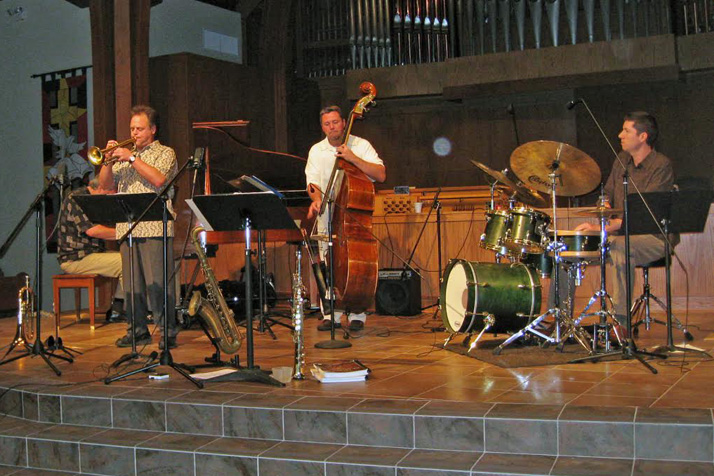 Jazz ensembles, like the one shown here performing in Southminster's sanctuary, have been a popular addition to the church's music offerings.