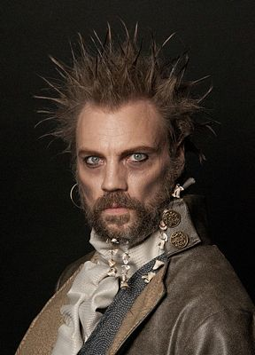 """Joel Marquardt agreed to the make-over for a fundraiser. The look is based on a """"Pirates of the Caribbean"""" character."""