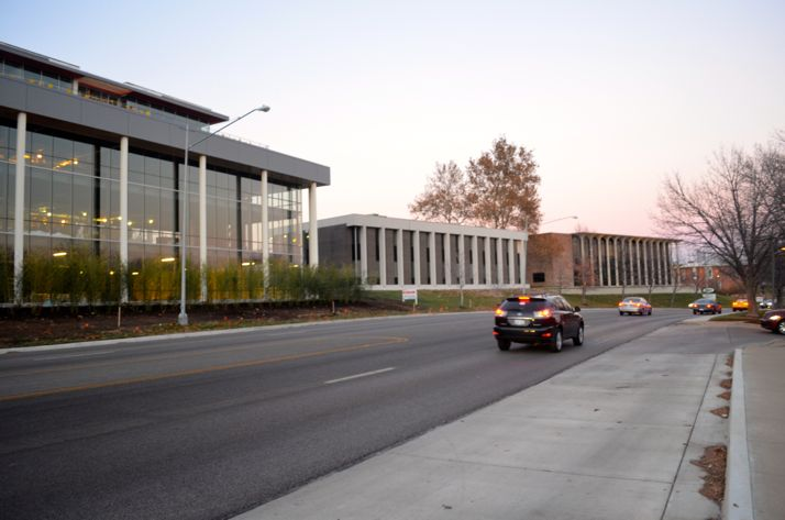 The middle building is 1968 Shawnee Mission Parkway. The buildings on either side have been purchased by Karbank Real Estate.