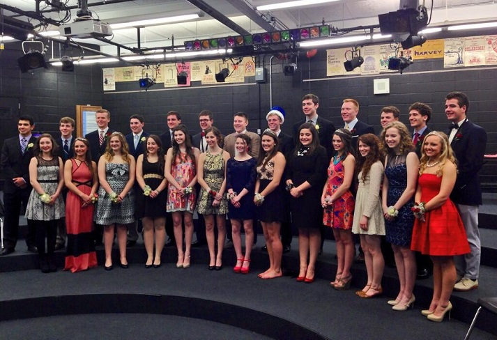 The 2014 SM East Sweetheart Court. Photo via SME Office Twitter account.