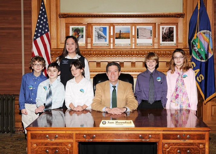 The pages from John Diemer had a chance to meet Kansas Gov. Sam Brownback.