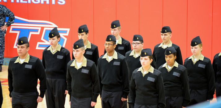 SM East students in NJROTC compete as part of the SM West team, here at the Oklahoma City meet.