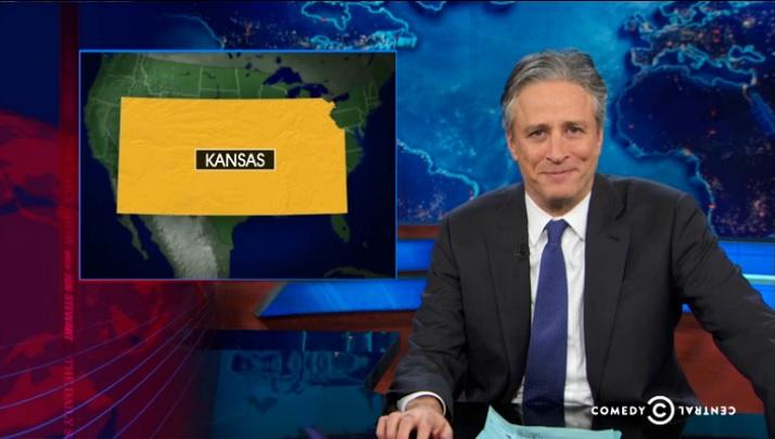 Jon Stewart ladled it out for the Kansas legislature on Thursday's Daily Show.