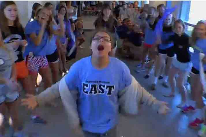 SM East's Naomi Gorelick was initially scheduled to appear in the Lancer lipdub video. Friday night, her performance was highlighted in a national commercial aired during the Olympic opening ceremonies.