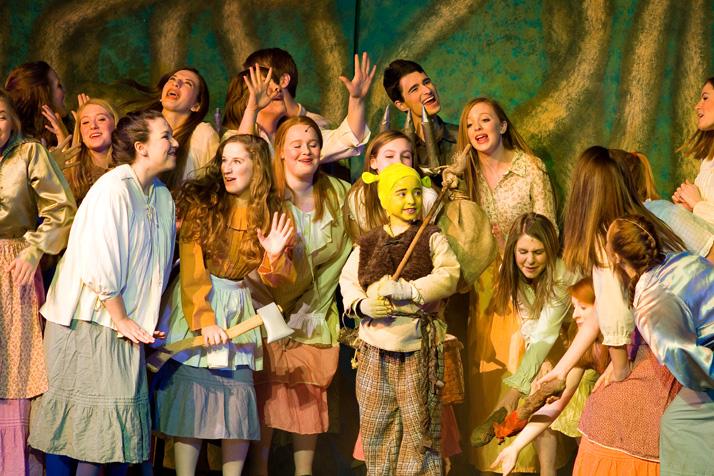 Ira Finkelston as Little Shrek among the nice village people.