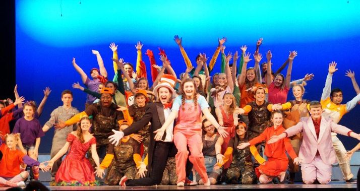 The cast of Seussical includes SM North students and elementary students from the area.