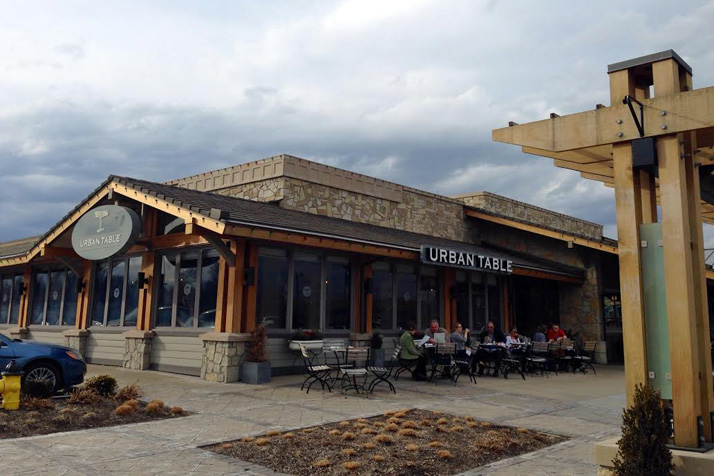 Diners enjoyed the spring weather on the patio at Corinth Square's Urban Table Tuesday.