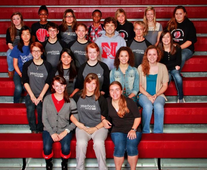 The yearbook staff for 2012-2013 at SM North.