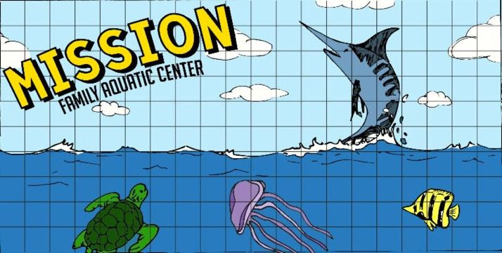The mural planned for the new Mission aquatic center.