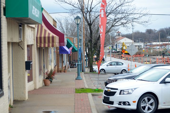 Businesses along the north side of the same stretch still have direct parking. As construction progresses, different sections of the street will be affected.