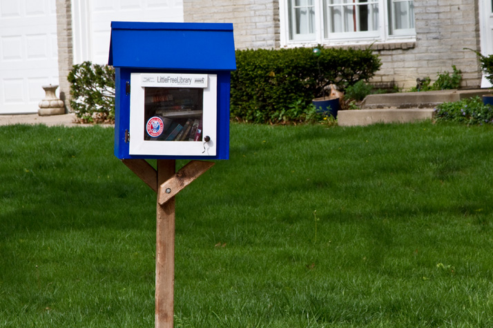 The Little Free Library at 77th and Aberdeen in Prairie Village.