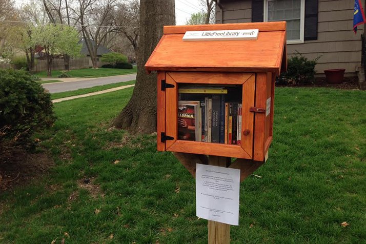 Little Free Libraries are permitted under Prairie Village's city code, but are considered violations under Leawood's.