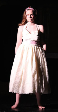 Maddie Roberts in the title role. Photo courtesy SM East Theatre Department.