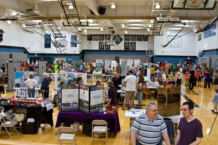 Dozens of booths packed the SM East gymnasium Saturday for the annual Earth Fair.