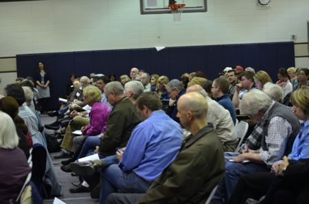 A large crowd attended the first quarterly forum this week.
