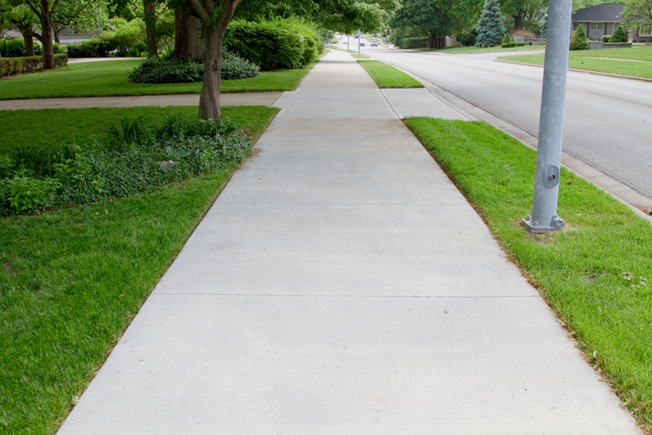 The eight-foot-wide trail along Somerset from Franklin Park to Corinth Square is just one of two short trail sections that have been built in Prairie Village.