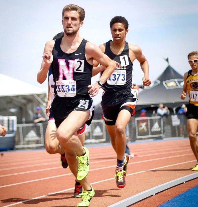 Ben Burchstead at KU Relays. Photo courtesy SM North.