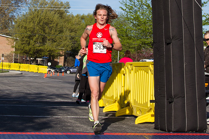 Rikki Hacker ran the fastest time among the male field.