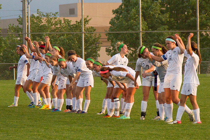 SM East's soccer team took its final bow of the season Thursday in a regional finals loss to Blue Valley West. Photo by Mitch Kaskie.