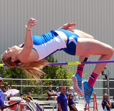 SM East grad Grace Pickell had her best high jump showing at the college level Saturday in a meet at Kansas State.