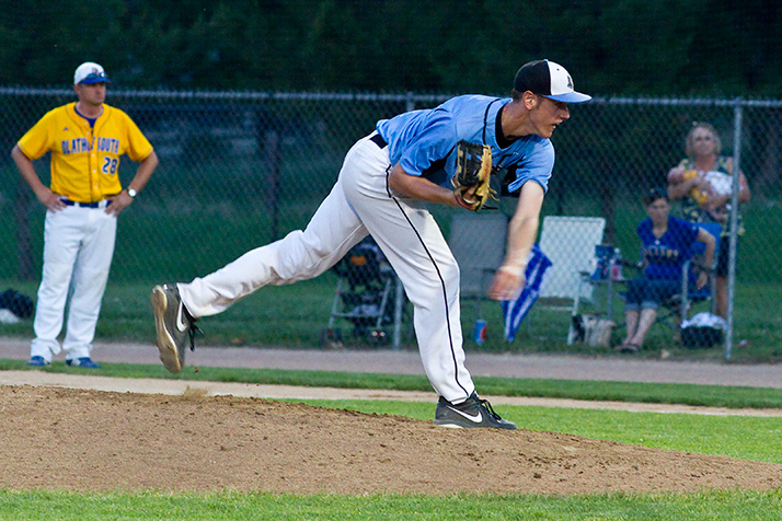 Joey Wentz pitched six shutout innings for the Lancers in their regional final win over Olathe South.