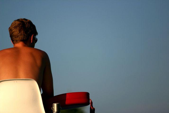 Lifeguard keeping watch