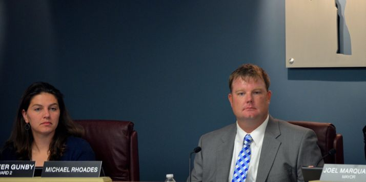 New Roeland Park Councilor Michael Rhoades took his seat on the council after election his election last week.