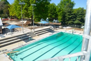 Mission's renovated pool facility included a new competition lap pool.