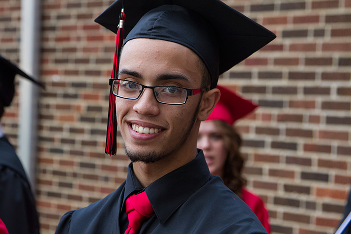 "Chris Cambrace said walking across the stage was going to feel ""awesome."""