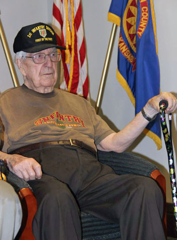 Jack Brooks of Leawood was among the three D-Day veterans honored by the county Thursday. Photo courtesy Johnson County.