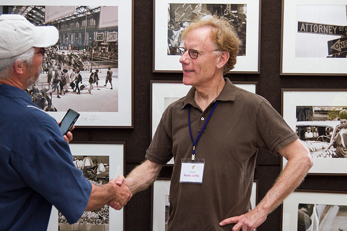 Street photographer Rusty Leffel of Mission Hills has been showing at the Prairie Village Art Show for a decade.