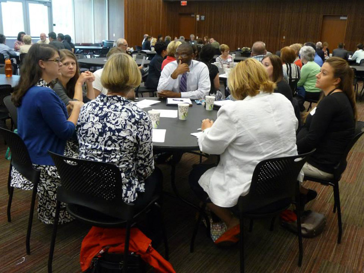 Attendees at the United Community Services summit Tuesday discussed the growing problem of suburban poverty. Photo via UCS Facebook page.