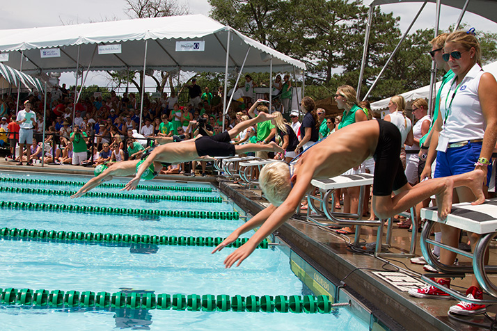 Milburn Country Club played host to the Country Club Swim Association of Greater Kansas City championships Friday.