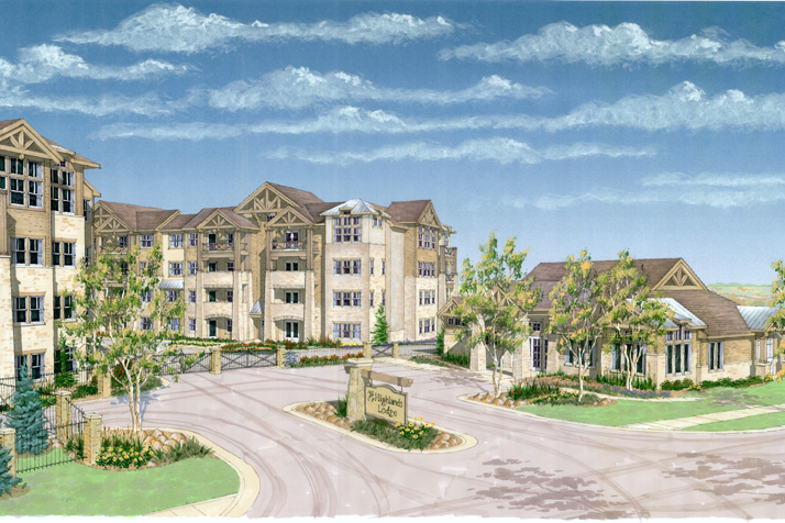 The Highlands Lodge Apartments in Overland Park near I-435 are among VanTrusts recent real estate development projects.