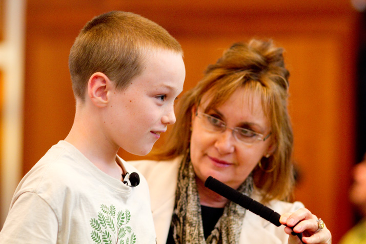 Spencer Collins asked the Leawood City Council on Monday to allow his family to put its Little Free Library back in their front yard.