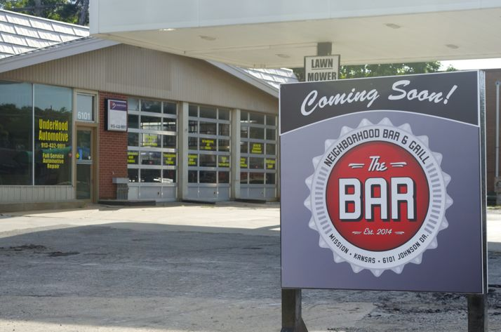 The Bar, a neighborhood bar and grill, will open this fall on Johnson Drive in Mission. It will be operated by the same group that owns Bar West in Shawnee.