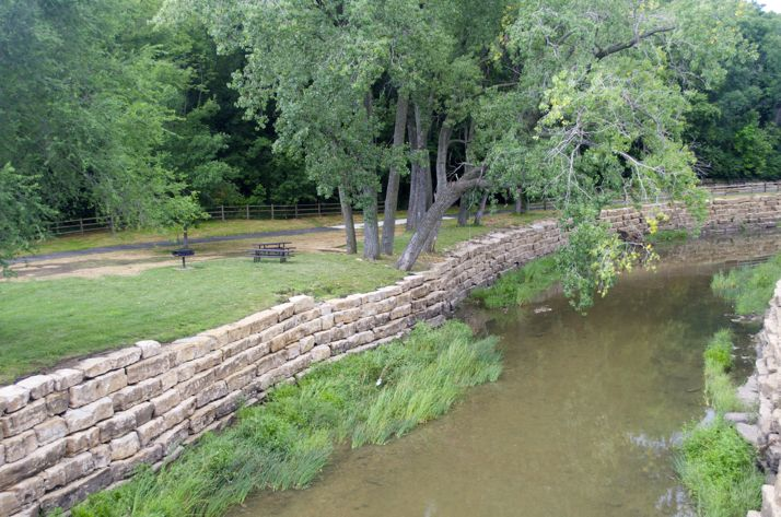 The trail is complete through Merriam, including this section near the Merriam Marketplace.