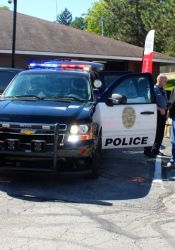 Police vehicles were part of the open house Saturday.  Photo by Bill Nichols