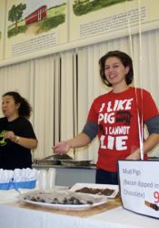 Roeland Park City Councilor Jennifer Gunby also combined bacon and chocolate.
