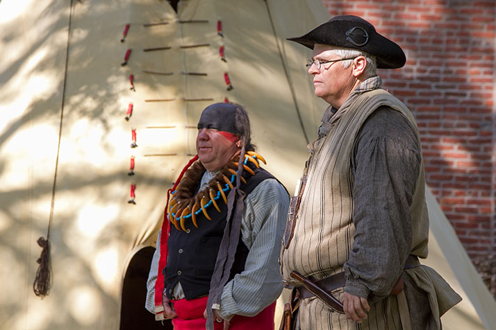 Historical re-enactors are part of the attractions at the Shawnee Indian Mission Fall Festival, to be held this weekend.