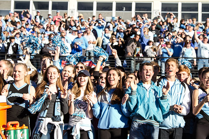 SM East fans in Emporia for the 2014 Class 6A football championship game.